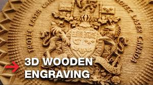 <b>3D</b> Wooden Engraving | <b>Laser Engrave 3D</b> Coat of Arms - YouTube
