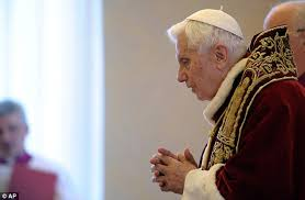 Now will there be two Popes  Rome in turmoil over claim Benedict     Daily Mail In this photo provided by the Vatican newspaper L     Osservatore Romano  Pope Benedict XVI