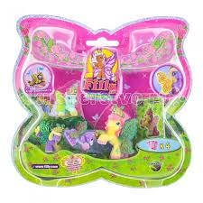 <b>Filly Набор игровой</b> Лошадки-бабочки с блестящими крыльями ...