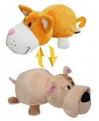 Мягкая <b>игрушка 1 TOY Вывернушка</b> Оранжевый кот-Бульдог 15 см