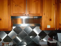 kitchen backsplash stainless steel tiles: image of stainless steel kitchen backsplash tiles