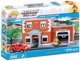 <b>Cobi</b> Action Town <b>Engine</b> 13 Fire Station 330pcs 1477 - 1a.ee