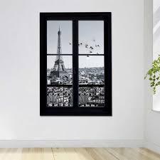 <b>1Pc</b> Wall Decals <b>Paris</b> City Removable 3D Window <b>Eiffel</b> Tower Wall ...