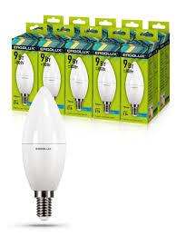 Набор из 10 <b>светодиодных</b> лампочек <b>LED</b> 9W 4500К E14 <b>Ergolux</b> ...