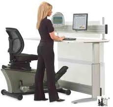 we are big fans of standing desks and have discussed treadmill desks as alternatives to sitting all day but is the elliptical machine office desk an big office desks