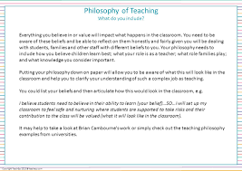 includes program cover page philosophy of teaching template 4 philosophy