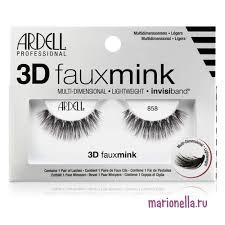 <b>Накладные ресницы ARDELL 3D</b> Faux Mink 858 купить в ...