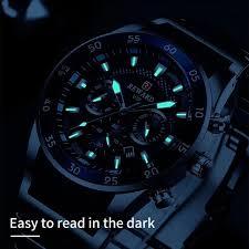<b>Watches</b> Luxury Quartz Blue <b>Watch Full Steel Men</b> Chronograph in ...