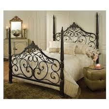 buy hillsdale wellington queen panel customizable bedroom mikelson mixed wood amp iron bed in aged antique gold by hillsdale con