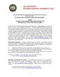call for papers florida historical society call for papers