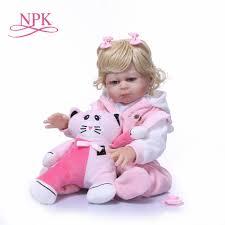 NPK 50CM Boneca <b>Bebes Reborn</b> girl <b>Doll Handmade</b> Full Silicone ...