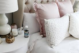 feminine bedroom furniture bed: parisian feminine bedroom decor white ruffled blush pink