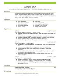 breakupus remarkable marketing resume example marketing resume marketing resume examples by aiden lovely marketing resume examples by aiden marketing resume delectable resume objective section