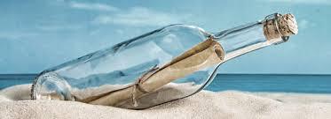 Resultado de imagen de mensaje botella mar