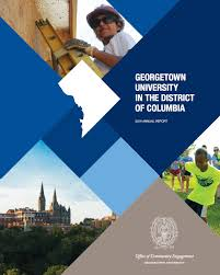 georgetown releases community engagement annual report annual report cover 2014