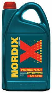 <b>Моторное масло</b> Nordix <b>Универсал SAE</b> 10W-40 5 л — купить по ...