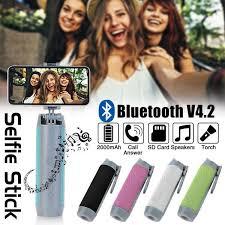 <b>5 in 1</b> Selfie Stick Bluetooth Speaker - Travelust & Co