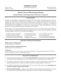 experienced manufacturing manager resume experienced cover letter gallery of experienced resume format