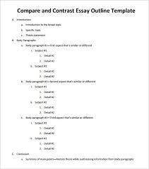 essay outline template   free sample example format download  sample compare and contrast essay outline pdf download