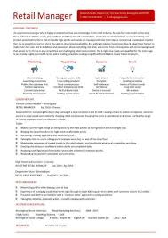 retail cv template example resume for retail