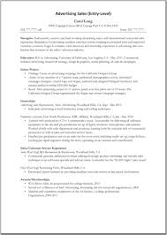example resume advertising s advertising resume