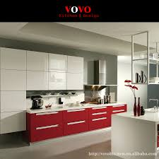 red mdf kitchen cabinet