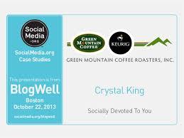 BlogWell Boston Social Media Case Study  Green Mountain Coffee Roaste