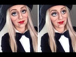 ventriloquist doll makeup tutorial large doll eyes tutorial