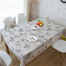 rectangular dining table cover cloth knitted vintage: th linen table cloth table clothes butterfly print dining table cover for kitchen home wedding event