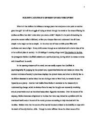 Holden     s spiritual Journey in the Catcher in the Rye   GCSE