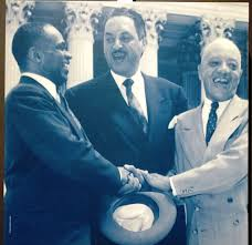 souvenir chronicles topeka kansas monroe school and brown v naacp lawyers george e c hayes thurgood marshall and james nabrit react to the supreme court s ruling
