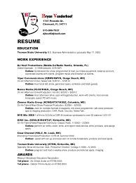 bryan vanderhoof radio resume