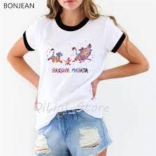 Hakuna Matata Shirt Women clothes <b>2019 Summer</b> fashion The ...