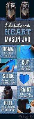 jar crafts home easy diy: diy chalkboard paint ideas for furniture projects home decor kitchen bedroom signs