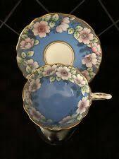 Синяя винтажная оригинальная антикварная керамика и ...