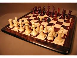 Chetak Bud Rosewood <b>Chessmen</b> with Rosewood and Maple Thick ...