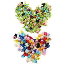 Online Shop <b>100PCS</b>/<b>Lot Mini</b> Handmade Satin Rose Ribbon ...