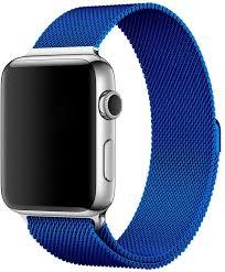 <b>Браслет Wolt для</b> Apple Watch 42/44 мм 25 см стальной (синий) в ...