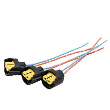 <b>3pcs DC 12V</b> Car Fog Light Sockets H9 <b>2</b> Wires Bulb Harness ...