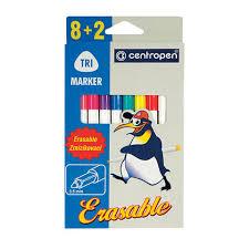 """<b>Фломастеры CENTROPEN</b> """"<b>Erasable</b>"""", 8 цветов +2 стирающих ..."""