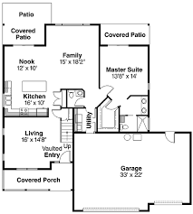 Cozy Home Plan   Car Garage   DA   st Floor Master    Floor Plan