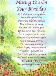 birthday in heaven quotes to post on facebook | FREE - In Loving ... via Relatably.com