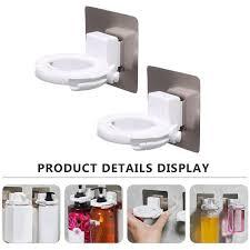 <b>2pcs Adjustable Hand</b> Sanitiser Holder Wall Mounted Shower Gel ...
