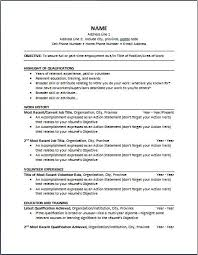 chronological resume format of chronological resume