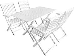 7 Piece Folding Outdoor Dining Set Solid Acacia ... - Amazon.com
