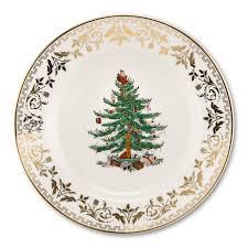 Spode <b>Christmas</b> Tree Gold <b>Collection Set of 4</b> Salad Plate <b>Sets</b> ...