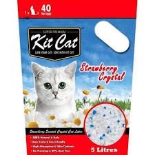 Kit <b>Cat</b> Crystal Litter, <b>Strawberry Cat</b> Litter 5L – Pawpy Kisses
