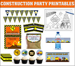 Construction Birthday Party Decorations Construction Balloons Party Supplies Party Supplies
