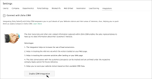 live chat integrated crm live support software zoho upon successful integration of siq account to the crm account for which you are the crm administrator you will now see the crm