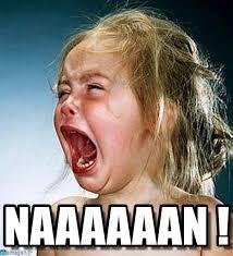 Naaaaaan ! - Baby Screaming No meme on Memegen via Relatably.com